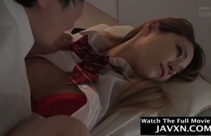Asian college girl banged by classmate