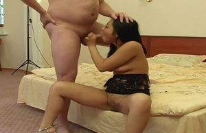 Pleasuring oriental superslut in real..