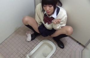 Urinating japanese kneads puss
