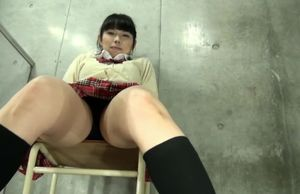 upskirt bloomers asian college woman