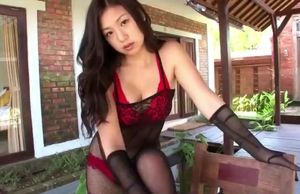 Chinese damsel in red-hot undergarments