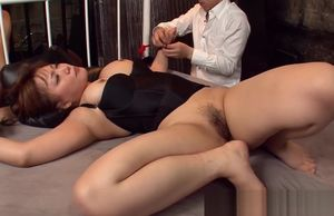 Bound up Japanese cutie is torn up..