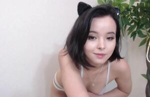 Ultra-cute and timid woman on web cam
