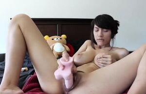 Chinese honey and her playthings on a..